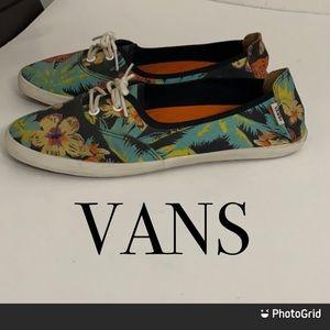 Authentic Vans hawaiana print sneakers flats 10